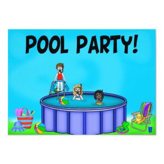 "Kids Pool Party Invitations 5"" X 7"" Invitation Card"