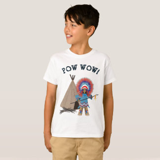 KIDS' POW WOW INDIAN CHIEF T-SHIRT