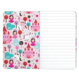 kids princess castle and unicorn journal