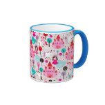 kids princess castle and unicorn ringer coffee mug