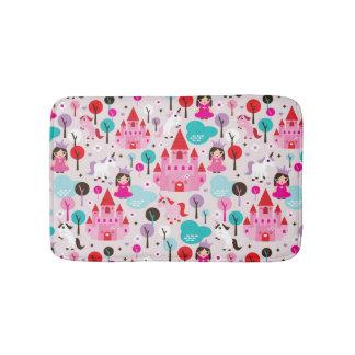 kids princess castle and unicorn bath mats