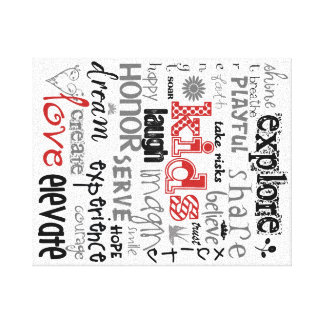 Kids Printable Canvas in Red