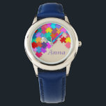 """Kid&#39;s Puzzle Blue Leather Strap Watch<br><div class=""""desc"""">Kid&#39;s Puzzle Blue Leather Strap,  Stainless Steel Watch</div>"""