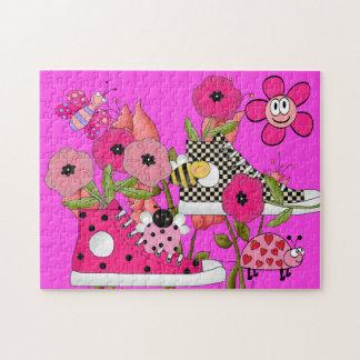 Kids Puzzle Flowers Shoes Bugs
