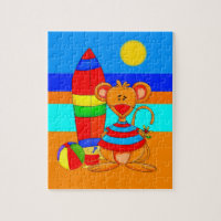 Kids Puzzle Mouse At The Beach