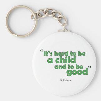 Kids qoutes key chain