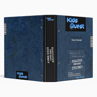 Kids Quest Dossier, with editable title 3 Ring Binder