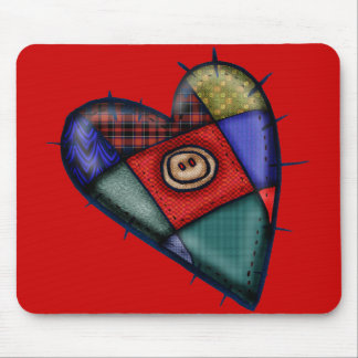 Kids Quilted Heart T Shirts and Kids Gifts Mouse Pad