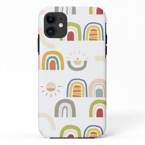 Kids Rainbow and Sun Phone Case