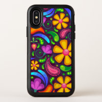 Kids rainbow color abstract OtterBox symmetry iPhone x case