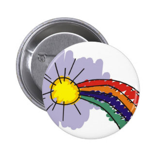 kids rainbow design button