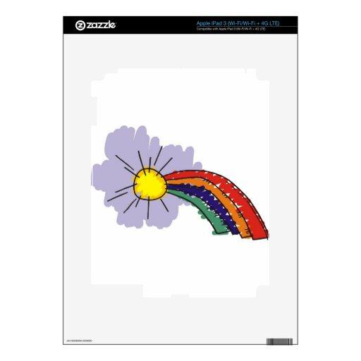 kids rainbow design iPad 3 skin