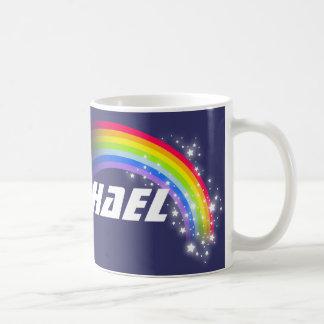 Kids rainbow navy custom name mug