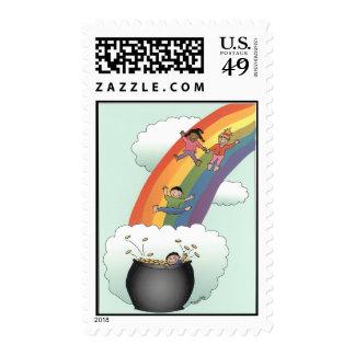 Kids Rainbow Postage