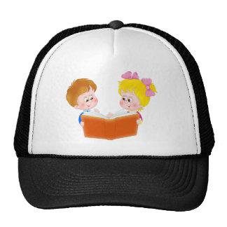 kids reading trucker hat