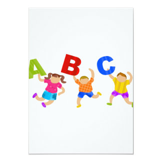 Kids Reading Writing Daycare Teaching Learning Card