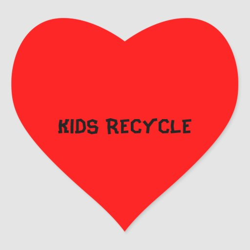 KIDS RECYCLE STICKERS