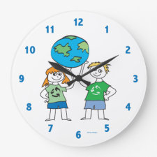 Kids Recycle Clock