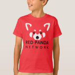 Kids Red Panda Shirt Red