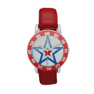 Kids Red White and Blue Watch with red wristband