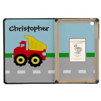 Kid's Red/Yellow Dump Truck on Road iPad Mini Cases