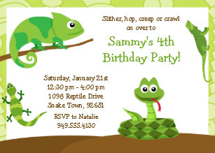Reptile Birthday Invitations Zazzle