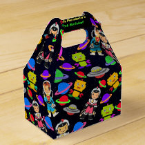 Kids Retro Astronauts and Robots Personalized Favor Box