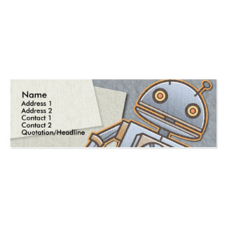 Kids Retro Rocket Skinny Profile Cards Business Cards