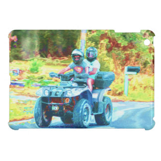 Kids Riding an ATV All Terrain Vehicle on Road Case For The iPad Mini