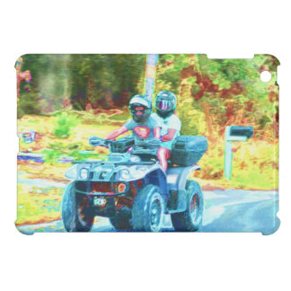 Kids Riding an ATV All Terrain Vehicle on Road Cover For The iPad Mini