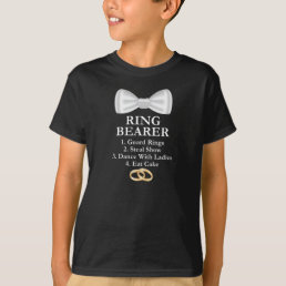 Kids Ring Bearer Guard Rings Cute Boys Wedding T-Shirt