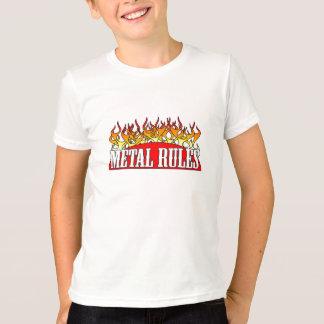 Kids Ringer Metal Rules Shirt