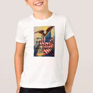 Kids Ringer T-Shirt w/ What Does w Eagle Defending