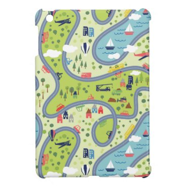 Kids Roadtrip Landscape Pattern Case For The iPad Mini
