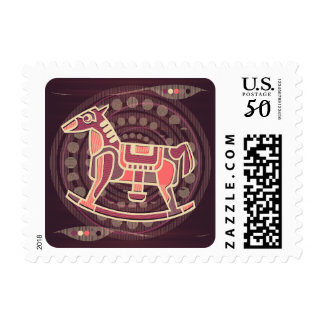 Kids Rocking Horse Toy Children's Stamp