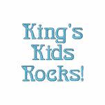 Kids Rocks Embroidered Shirt de rey Polo Bordado