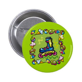 Kids Rollerblade T Shirts and Kids Gifts Pinback Buttons