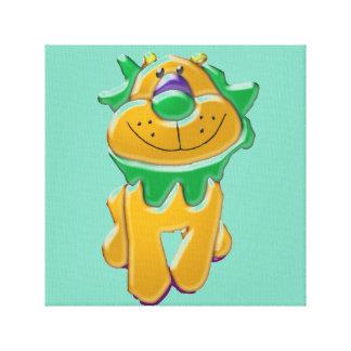 Kids' Room Cartoon Lion Wrapped Canvas Print