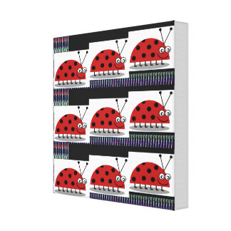 KIDS Room LADYBUG insect Play Area School Daycare Canvas Print