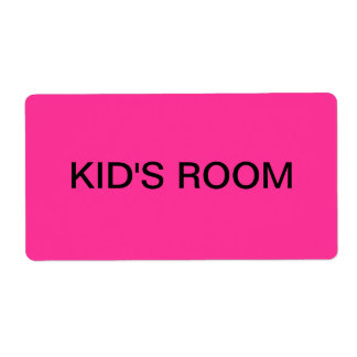 Kid's Room Packing & Moving Label