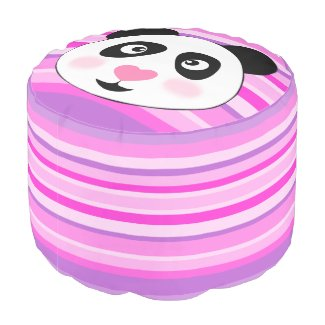 kid's room,panda round pouf