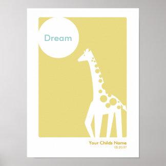 Kids Room Poster - Giraffe