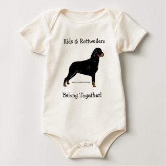 Kids & Rottweilers Belong Together! Baby Bodysuit