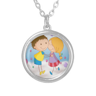 kids round pendant necklace