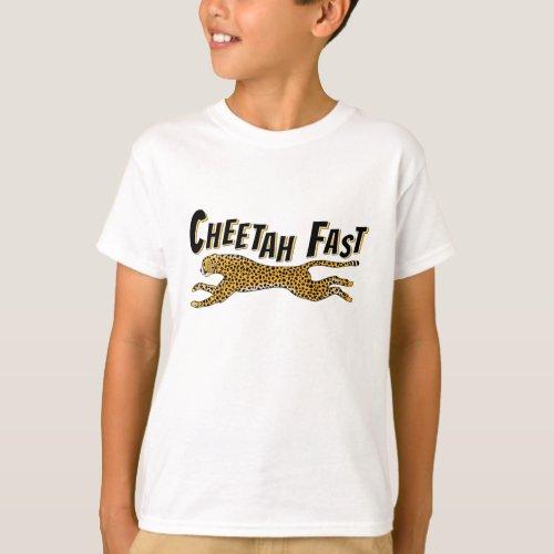 Kids Running Cheetah Fast Jungle Gift T_Shirt