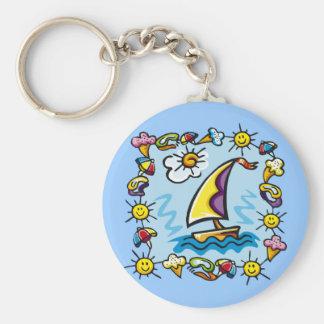 Kids Sailing T Shirts and Kids Sailing Gifts Keychain