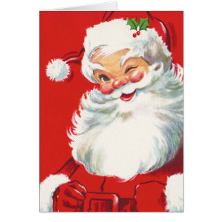 Kids Santa Claus Christmas Card