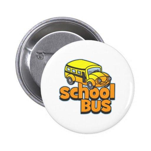 Kids School Bus 2 Inch Round Button