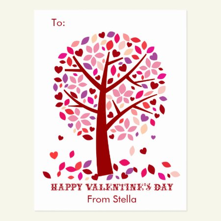 Kids School Classroom Valentine Cards Tree of Love