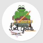 Kids School Clothes Round Stickers